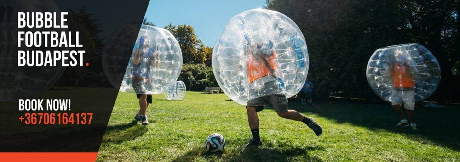 Bubble soccer stag party