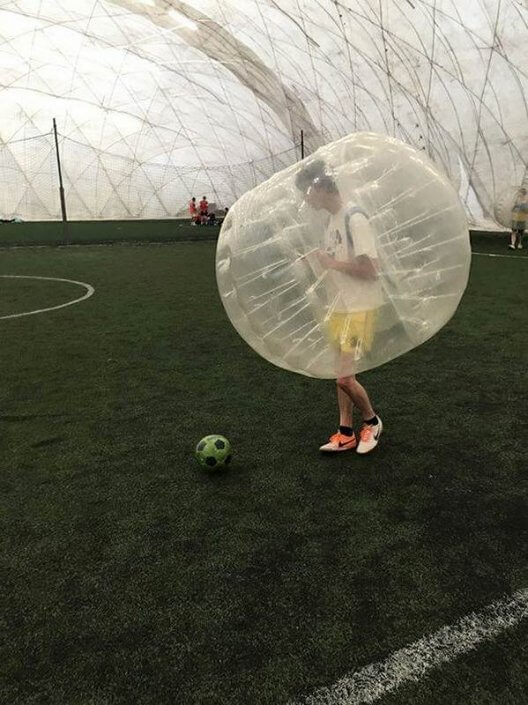 Indoor Bubble Ball Game in Budapest