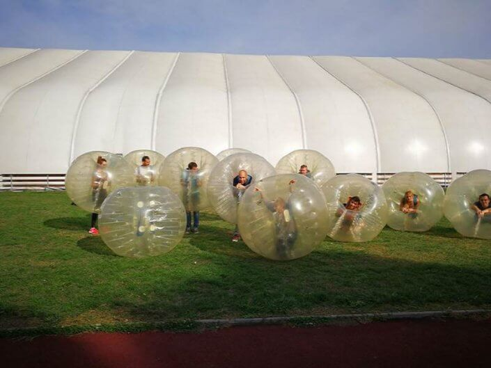 Bubble Football Game in Budapest